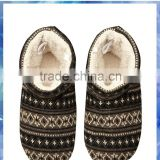 2014 high quality brown /black fair isle knitted men winter boots