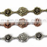 Wholesale Antique Silver Metal Jewelry Flower Chains
