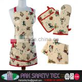 Apron Kitchen Set/Apron Keukenschort/Apron, Tea towel, An oven mitt and A pot holde