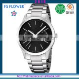 FS FLOWER - Men's Chronograph Miyota OS21 Movement Stainless Steel Watch Case Band Back 5 ATM Water Resistant