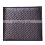 Leather rfid blocking carbon fiber wallet for men,durable bifold carbon fiber wallet,leather wallet wholesale