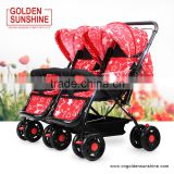 Twins baby stroller/baby carriage/Golden sunshine pram/baby carrier/pushchair/stroller baby/baby trolley/baby jogger