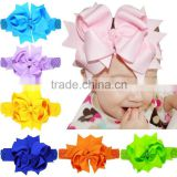 Hair accessories large bow Crochet Headband Baby Girls dress up Head band Chirstmas gift