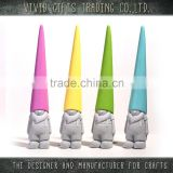 wholesale cute 3d dwarf shape custom ceramic garden decoration