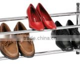 Homestar 2 Tier Stackable Metal Tubular Shoe Rack and 2 tier chrome wire shoes storage,shoes display rack
