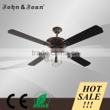Europe Hot Selling Orient Decorative Ceiling Fan Light