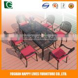 Cheap price beer garden table and bench arc-shaped modern design outdoor furniture bar set
