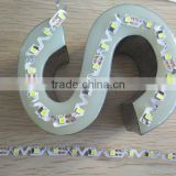 Special for Luminous Letters! SMD2835 0.1W/0.2W 72leds Flex LED Strip Light for Backlit Letters Signage S shape flexible strips