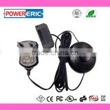 Can be customized universal 12V 0.5A power adapter with foot switch and 6 way distributor