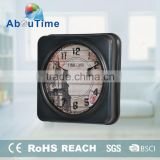Solar quartz dials wall clock with different design for promotion