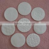 Cosmetic cotton pad, round pad