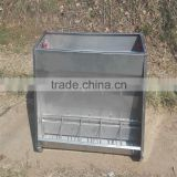 heavy duty metal automatic double side livestock feeder trough for poultry equipment