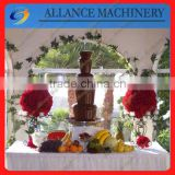 23 LED base stainless steel chocolate fountain machine