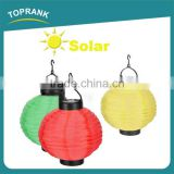 Custom color outdoor collapsible led solar paper lantern for decoration