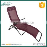 Black color Germany market sun lounger