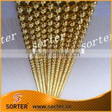 8mm gold color stainless steel decorative ball chain curtain