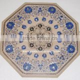 Marble Inlay Dining Table Top Antique Pietra Dura Art Dining Table Top