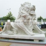 Garden art craft large stone lion outdoor sculpture