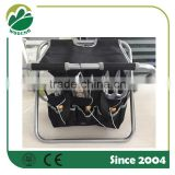 Garden portable folding stool/chair with storage bag with 3pcs tools set/garden tools set with bag
