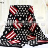 ladies fashion street style flag knit scarf
