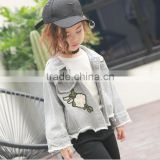 zm40647b korean style new design children jeans coats and fancy girls jacket casual clothes