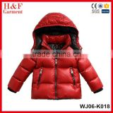 Winter Fashion kids wear wholesale coat foldable ultralight down jackets duck down jacket