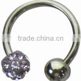 Body piercing ring eyebrow jewelry cone