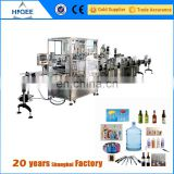 china factory automatic soft drinking plastic bottle filling capping and labeling machine