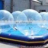 HI CE 0.8mm PVC size 2m children plastic ball pool floating water 8 pool ball