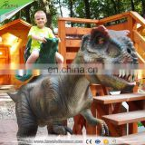 2016 KAWAH Coin operated Theme Park Equipment Dinosaur Ride
