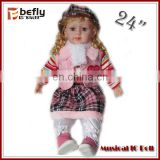 Promotional real live look educational baby doll