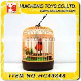 Funny Simulated Art Bird Cage Battery Operated Singing Bird Toys