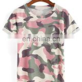 100% polyester camouflage printed short sleeve t-shirt