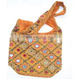 mirror work ethnic shoulder bag
