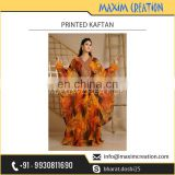 Superior Quality Vibrant Colour Printed Kaftan from Industry's Best Manufacturer