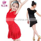 Milk silk comfortable girls practice latin dance costume skirt with size S M L XL ET-086