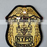 custom shield style embroidery badge