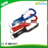 Winho Short strap key ring with carabiner and 2D PVC decal