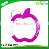 Winho Apple Carabiner Keychain with Split Ring Attachment
