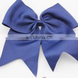 "Navy grosgrain 7"" cheer bow"