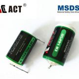 Primary 1/2AA size Li-SClO2 3.6V lithium battery