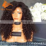 peruvian kinky curly hair full lace wig for balck woman kinky curly lace front wig