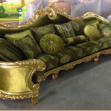 OE-FASHION  luxury living room solid wood carving sofas