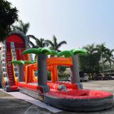 Inflatable slip and slide inflatable water slide axs-14