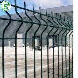 Grey 2030 x 2500mm wire mesh fencing systemGreen V-shaped pressings 3D wire fence