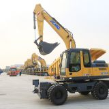 XCMG wheel Excavator XE150W  15 ton wheel excavator from China factory suppliy
