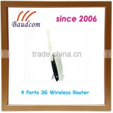 SIM in build 4 ports 150M 3G modem router with WIFI