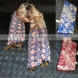 Ink Painting Print Design Large Long Cotton Pashmina Scarf Women Hijab                                                                         Quality Choice