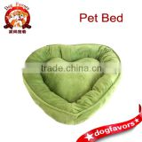 Green Heart Shaped Pet Bed, Dog Bed