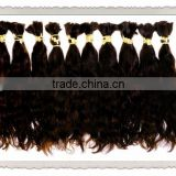 top quality 100 %human curly hair bulk